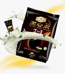 龙王黑豆浆黑豆豆浆速溶非转基因豆浆粉即冲饮甜味豆奶粉450gx2袋