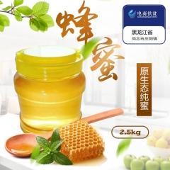 精准扶贫 尚志特产 农家自制蜂蜜 2.5kg 贫困户自家养蜂,天然自产土蜂蜜 包邮