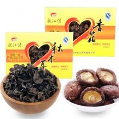 运福龙江情山珍礼品装秋木耳香菇猴头菇滑子菇东北特产干货